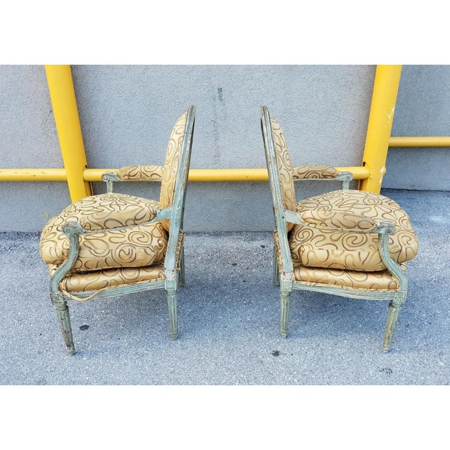 Mid 18th Century Antique French Louis XVI Medallion Chairs - A Pair For Sale In Miami - Image 6 of 13