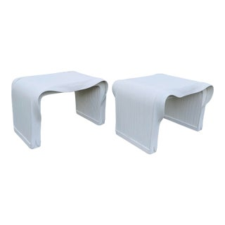 Rare Betty Cobonpue 1970s Scultura Ribbon Tables-A Pair For Sale