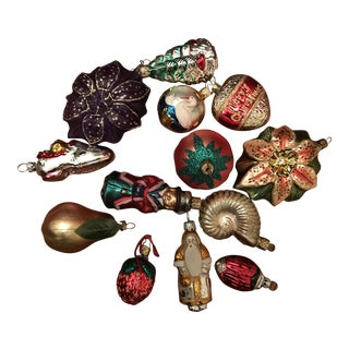 Vintage Ornaments from Germany - Set of 13