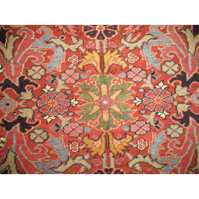 Antique Persian Heriz Rug - 8′4″ × 10′11″ - Image 7 of 11