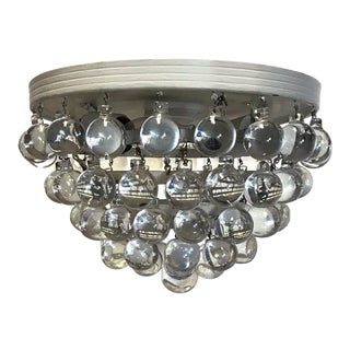 Vintage Modern Flush Mount Crystal Lighting For Sale