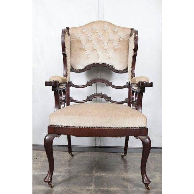 Mahogany Wingback Armchair - Image 6 of 6