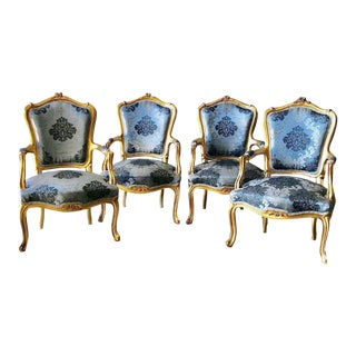 1960s Vintage French Louis XVI Style Chairs - Set of 4 For Sale