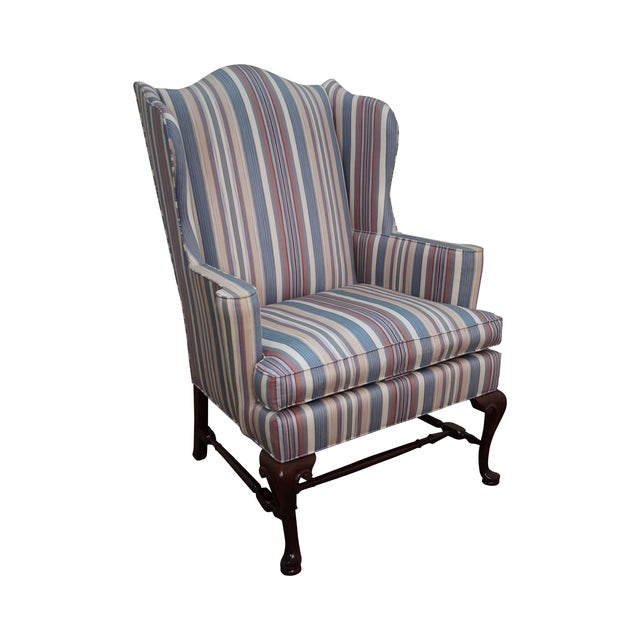Hickory Chair Solid Mahogany Queen Anne Wing Chair - Image 1 of 10