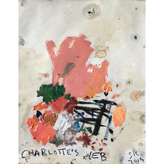 'Charlotte's Web' Abstract Oil Painting by Sean Kratzert For Sale
