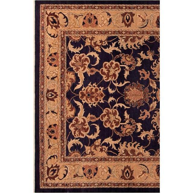 Kafkaz Peshawar Marianne Blue & Dark Gold Wool Rug - 10' x 14' For Sale In New York - Image 6 of 7