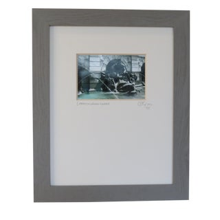Library of Congress Fountain, Wdc. Custom Framed and Matted by C. Damien Fox For Sale