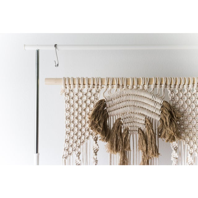 Natural Macrame Wall Hanging - Image 4 of 5