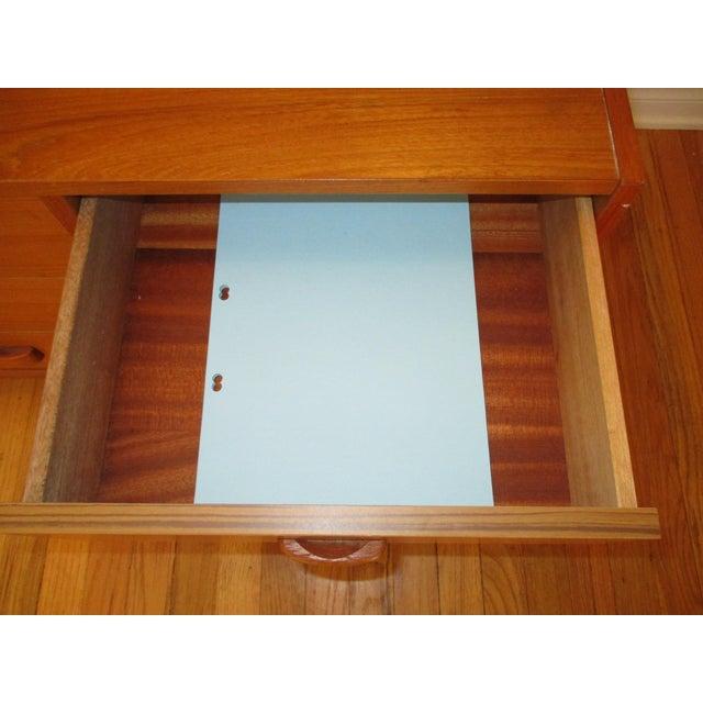 Mid Century Modern Danish Teak Domino Mobler Danish Modern Teak Dresser Nightstand Small Cabinet Jewelry Cabinet - Image 5 of 11
