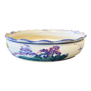 Chinese Porcelain Planter Underplate Dish For Sale