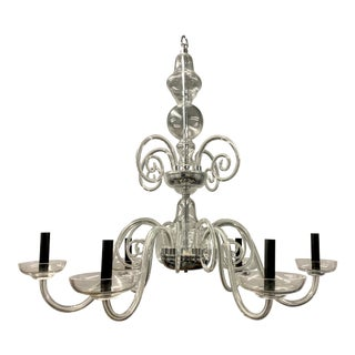 Murano Style Contemporary Crystal Chandelier, Italy For Sale