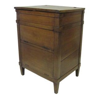 French Lift Top Walnut Commode Side Table 19th Century For Sale