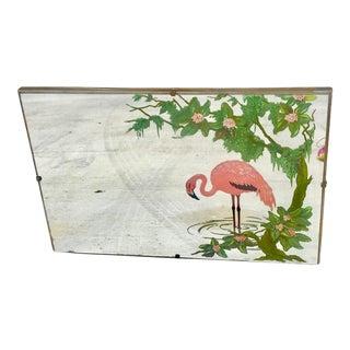 Mid-Century Modern Flamingo Painted Mirror