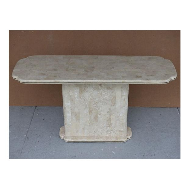 Maitland-Smith Style Tessellated Stone Console - Image 6 of 8