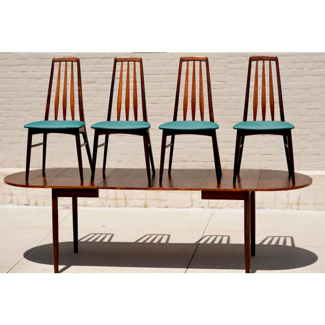 This 1960s Danish Rosewood dining set was found in the Heartland of America, Iowa. Purchased from the original owners estate.