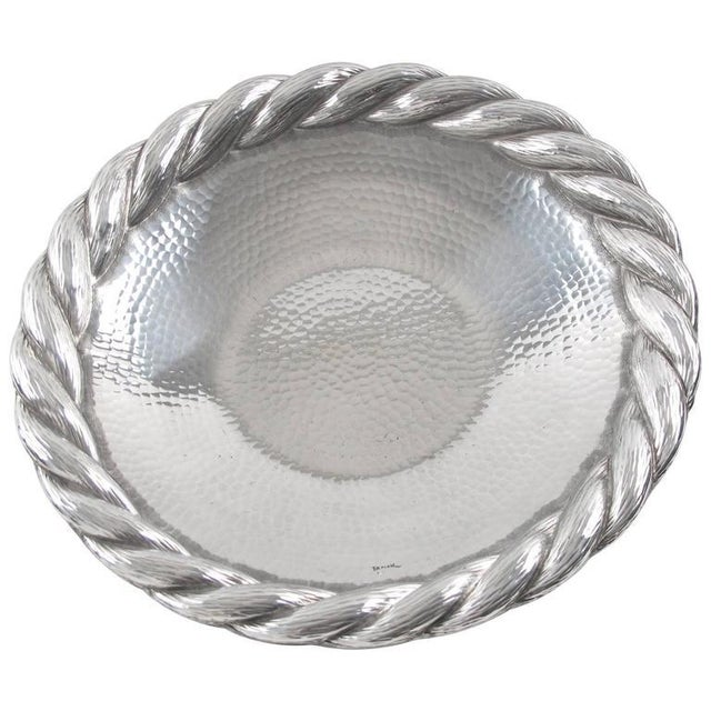 Irman France 1930s Art Deco Large Aluminum Platter or Serving Tray For Sale - Image 9 of 9