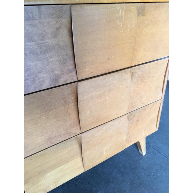 """Heywood-Wakefield """"Sculptura"""" Extra-Wide 6-Drawer Dresser For Sale In Los Angeles - Image 6 of 10"""