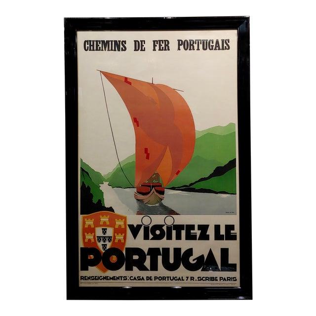 1937 Original Art Deco French Advertising Poster, Visitez Le Portugal For Sale