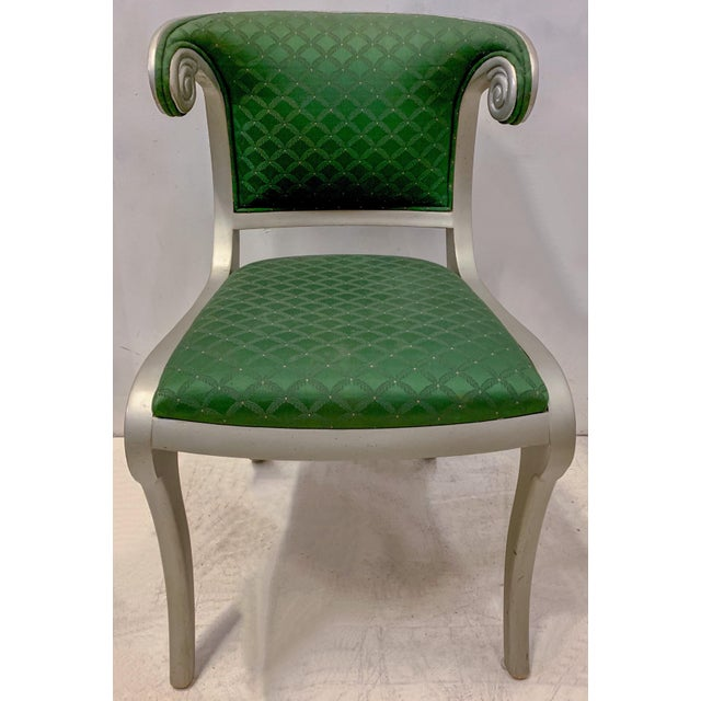 Green Set of 8 Casa Stradivari Neo-Classical Klismos Dining Chairs For Sale - Image 8 of 12