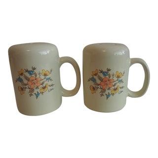 Vintage Saltera Floral Mist Salt and Pepper Shakers - A Pair