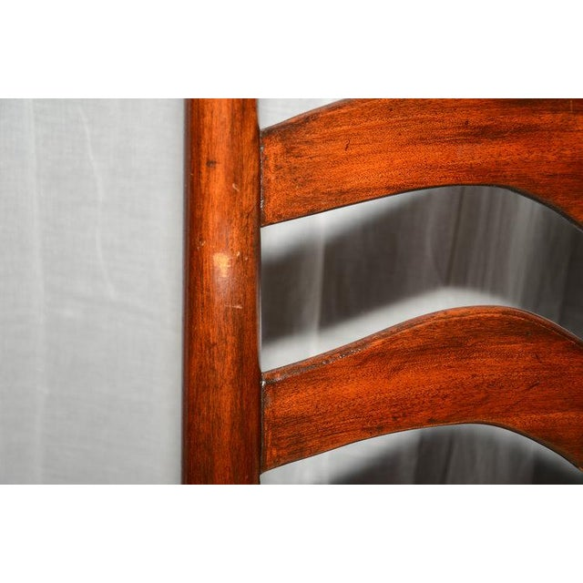 English Ladder Back Dining Chairs - Set of 6 - Image 7 of 10