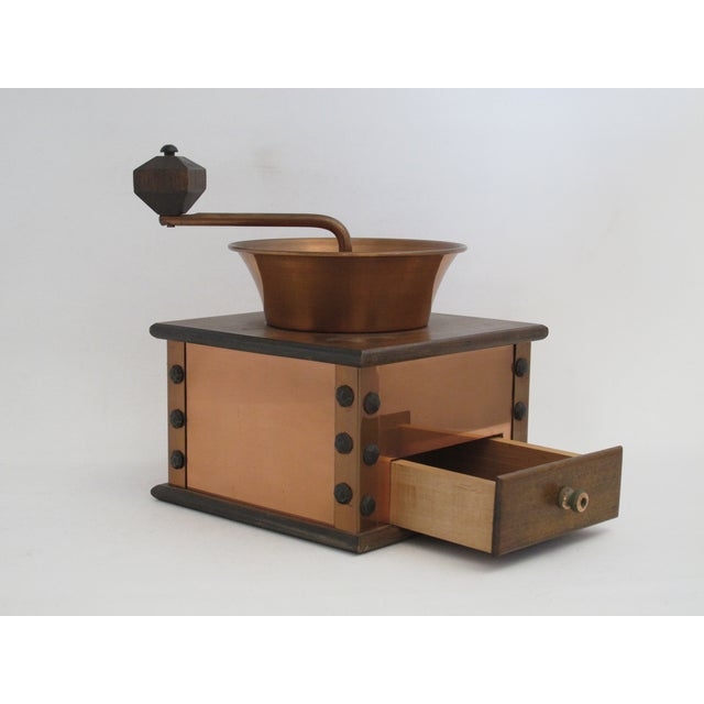 Copper and Walnut Coffee Grinder - Image 4 of 7