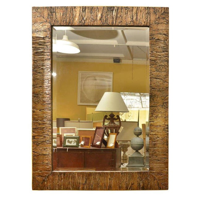 Gold Accented Mica Bark Mirror - Image 2 of 5