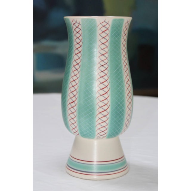Mid-Century Modern Mid-Century Modern Poole Pottery Vase For Sale - Image 3 of 11