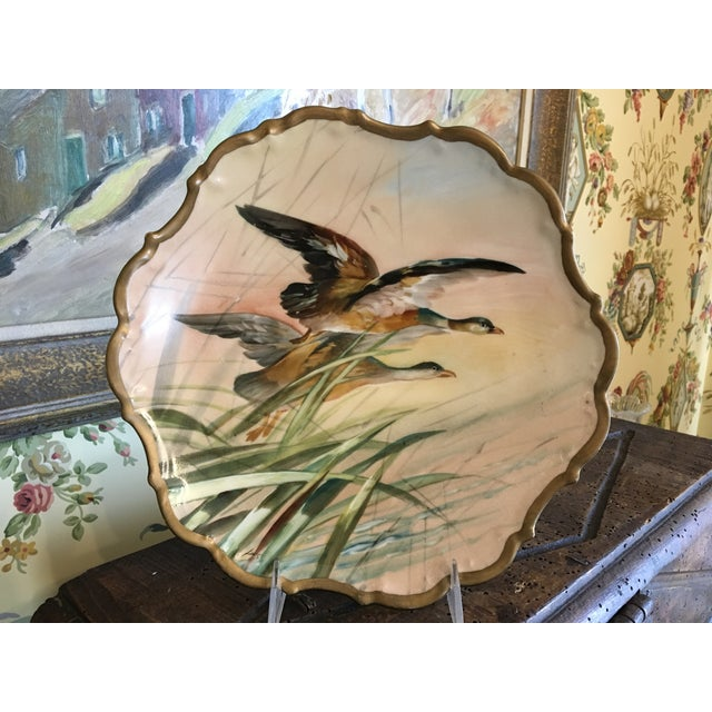 Antique French Porcelain Game Bird Hand Painted Plate, Signed For Sale - Image 12 of 13