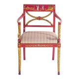 Image of Designer Chinoiserie Armchair For Sale