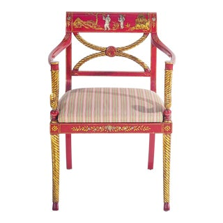 Designer Chinoiserie Armchair For Sale