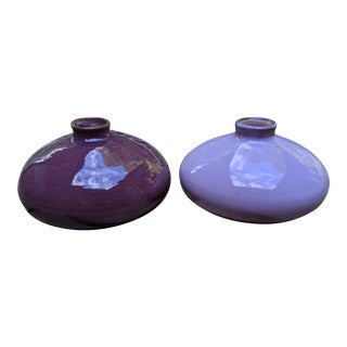 Miniature Pink Pottery Vases, Set of 2 For Sale