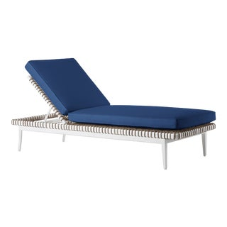 Delta Gamma Chaise Lounge in Pacific Blue For Sale