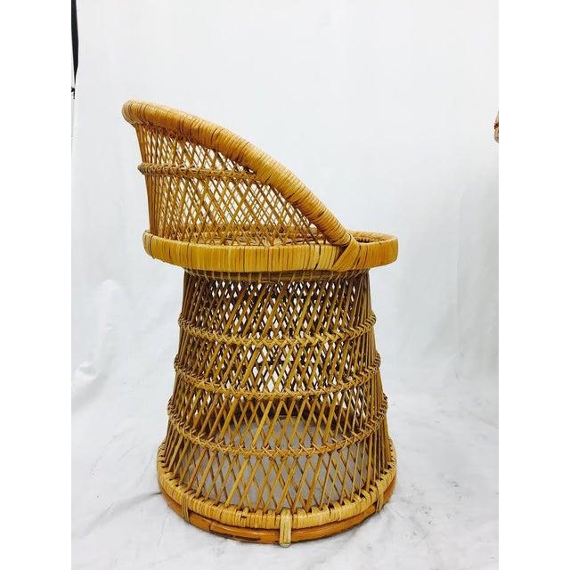 Vintage Boho Chic Wicker Bistro Set For Sale - Image 7 of 11