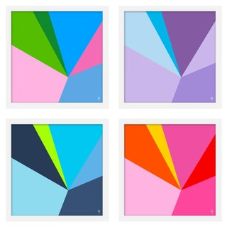 """Medium """"Fractured, Set of 4"""" Print by Wendy Concannon, 30"""" X 30"""" For Sale"""