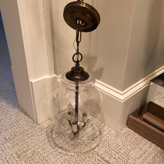Handblown Vintage Bell Jar Pendant Light For Sale - Image 10 of 12