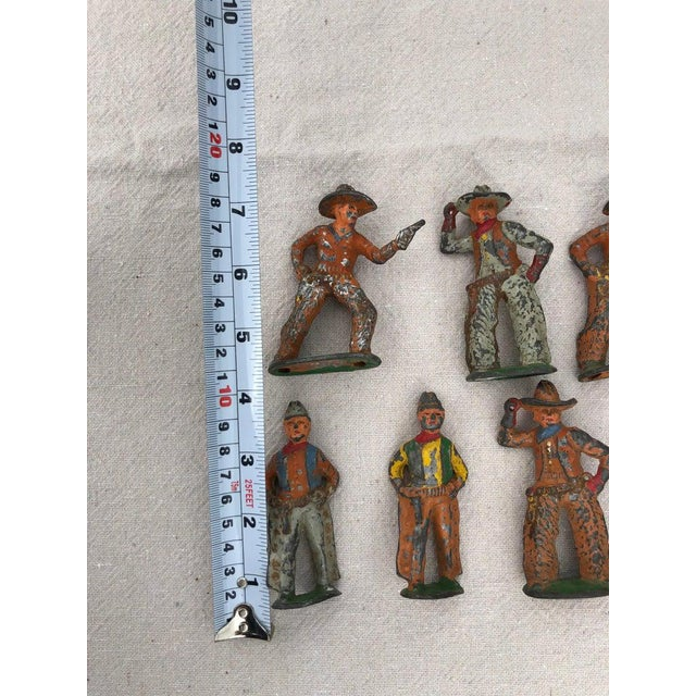1950 Antique Lead Toy Cowboys - Set of 7 For Sale In New York - Image 6 of 9