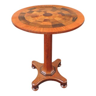 19th C Jamaican Mahogany Round Specimen Table, attributed to Ralph Turnbull For Sale