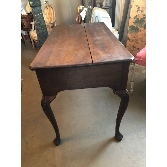 1900 Louis XV Style French Country Oak Writing Desk For Sale In Minneapolis - Image 6 of 13