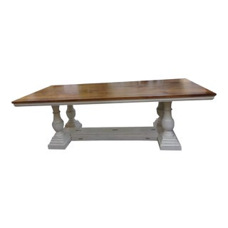 Beautiful Large 20th Century Two-Tone Farm Table For Sale