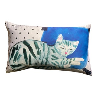 Kate Spade Cat Nap Lumbar Pillow For Sale