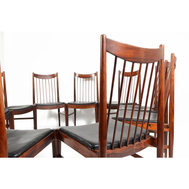 Arne Vodder Rosewood Dining Chairs - Set of 10 - Image 3 of 10