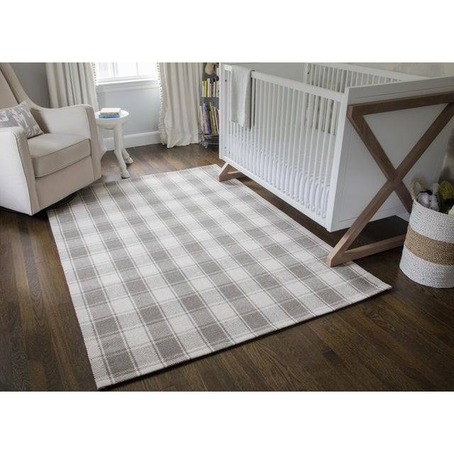 """Erin Gates by Momeni Marlborough Charles Grey Hand Woven Wool Area Rug - 3'6"""" X 5'6"""" For Sale In Atlanta - Image 6 of 8"""