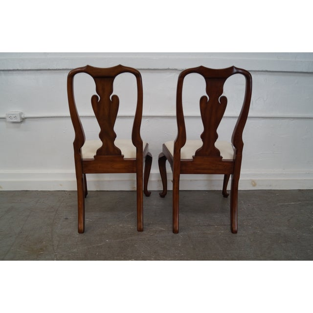 Henkel Harris Cherry Wood Queen Anne Chairs - 6 - Image 8 of 10