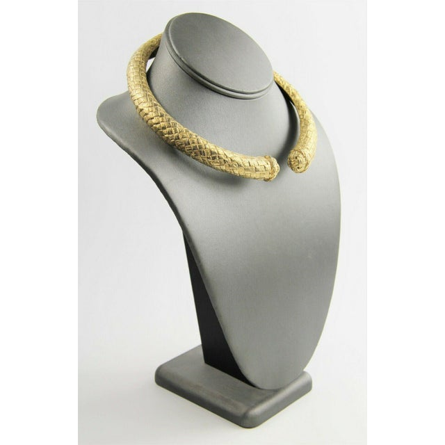 Rare and stunning signed givenchy hinged mogul collar necklace from the 80's. The hinge works smoothly and the metal is in...