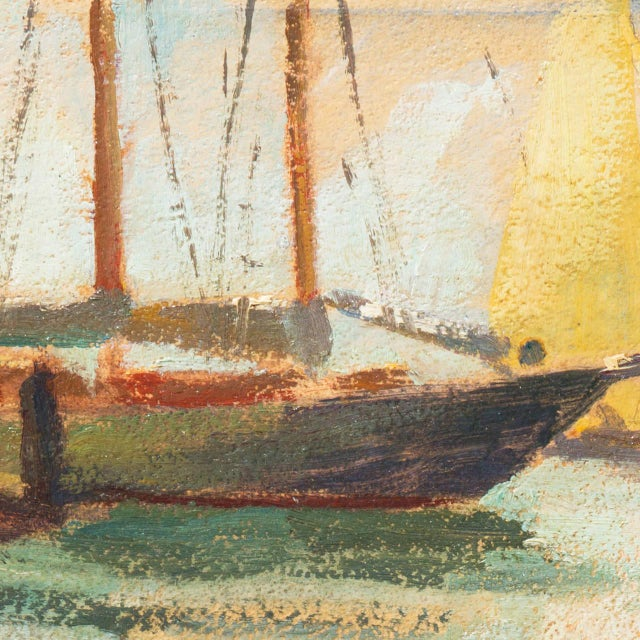1960s 'Harbor Mist' by Jonathan Scott Circa 1960, Laguna Beach Art Association, Aws, Pasadena Art Museum For Sale - Image 5 of 11