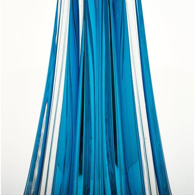 Blue Murano Glass Mirrored Aqua Lamps For Sale - Image 8 of 11