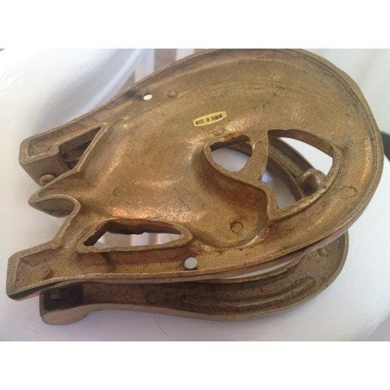 Lucky Horseshoe Brass Door Knocker - Image 5 of 5