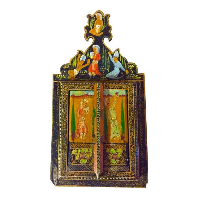 antique persian painted mirror chairish