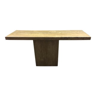 Italian Honed Travertine Console Table